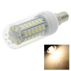 HONSCO E14 5W LED Corn Bulb Lamp Warm White Light 3000K 400lm 56-SMD 5730 Clear Cover (AC 220V)