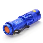 Ultrafire UK68 xp-e Q5 LED 3 modos de zoom lanterna azul - azul