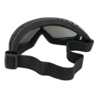 Outdoor Cycling Windproof PVC Lens Goggles - Black + Multicolor