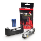Ultrafire UK68 XP-E Q5 LED 3-Mode Branco Lanterna de zoom-Prata