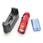 Ultrafire UK68 XP-E Q5 LED 3-Mode White Zooming Flashlight - Red