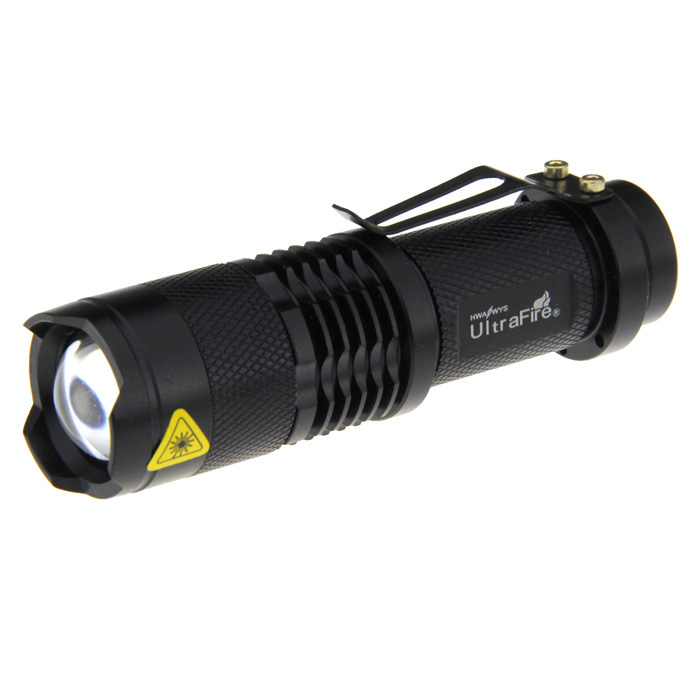 Ultrafire UK68 xp-e Q5 LED 3 modos de zoom lanterna - preto