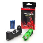 Ultrafire UK68 xp-e Q5 LED 3 modos de zoom lanterna verde - verde