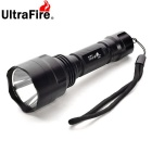 UltraFire UC8 Waterproof LED White 1000lm 5-Mode Flashlight w/ Strap - Black (3.6-4.2V / 1x18650)