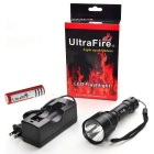 Ultrafire UC8 Waterproof LED White 1000lm 5-Mode Flashlight - Black