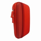 "Protective Shockproof Data Cable Storage Bag Case for 2.5"" Hard Disk Drive / SD Card - Red"