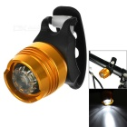 FJQXZ Water Resistant 3-Mode Cool White Light Warning Tail Lamp for Bicycle - Gold + Black