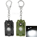 Multi-function LED Keychain w/ Magnifying / Telescope Lens Set - Black + Army Green