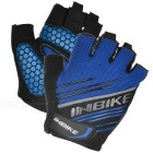 INBIKE Outdoor Cycling Anti-Shock Breathable Half-Finger Gloves - Blue + Black (M / Pair)