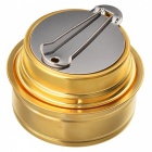 Portable Outdoor Camping Picnic Ultra-Light Mini Cooking Spirit Burner / Alcohol Stove - Golden