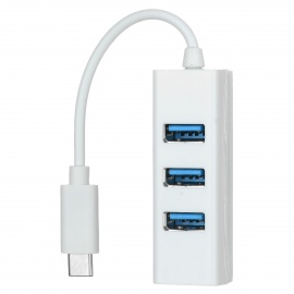 USB 3.1 Type C to 4-Port USB 3.0 HUB - White