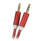 Universal 3.5mm Male to Male Audio AUX Cable - Red (1m)