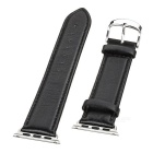 Top Cow Leather Watch Band w/ Attachments for APPLE WATCH 38mm - Black