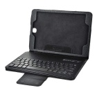 Mini Smile Detachable Bluetooth 3.0 64-Key Keyboard w/ PU Case for Samsung Galaxy Tab A P550 - Black