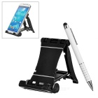 Capacitive Touch Screen Stylus Pen / Ballpoint Pen + Phone Holder Stand - White