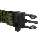 FURA 7-Core Bracelet w/ Whistle / Flint / Saw Cutter - Army Green