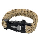 Outdoor Sports 7-Core Parachute Cord Bracelet w/ Whistle / Flint / Saw Cutter - Desert Camouflage