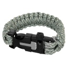 Outdoor Sports 7-Core Parachute Cord Bracelet w/ Whistle / Flint / Saw Cutter - Blue Camouflage
