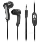 SENICC MX-147 3.5mm Plug In-Ear Earphone w/ Mic / Remote - Black