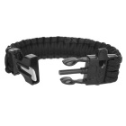 Outdoor Sports 7-Core Parachute Cord náramek Set - Black