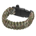FURA Sports 7-Core Bracelet w/ Whistle / Saw Cutter - Green Camouflage