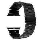 Mini Smile Stainless Steel Watch Band w/ Attachments for 42mm APPLE WATCH - Black