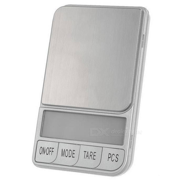 "Mini Digital Scale / Jewelry Scale w/ 2.5"" Screen - Silver (0.01~500g)"
