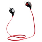 In-Ear Bluetooth V4.0 Stereo Headset Headphone w/ Microphone - Black + Red