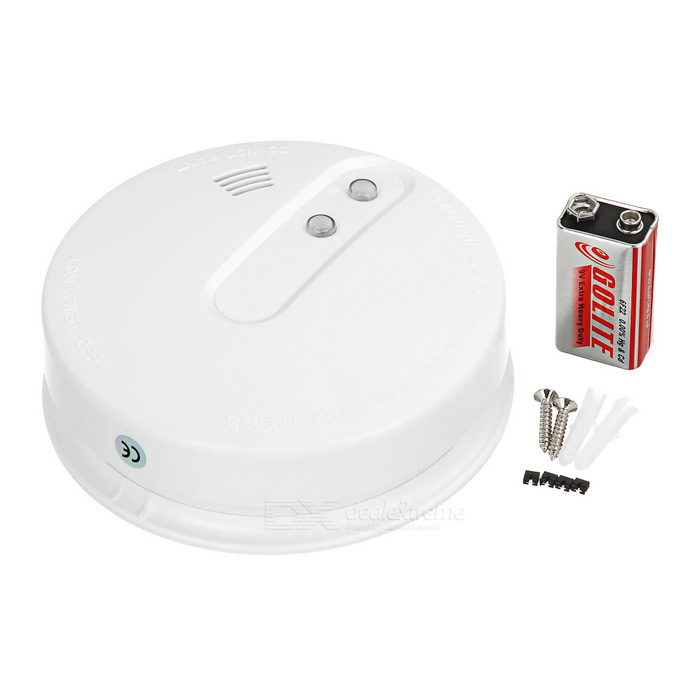 home security 433mhz wireless smoke detector sensor fire alarm white free shipping dealextreme. Black Bedroom Furniture Sets. Home Design Ideas