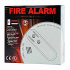 Home Security 433MHz Wireless Smoke Detector Sensor Fire Alarm - White