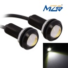 MZ 17.5mm 3W COB LED Eagle Eyes Car Brake / Backup / Fog Lamps White Light 300lm (DC 12V / 2 PCS)