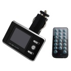 "1.5"" LCD Car MP3 Player FM Transmitter w/ Remote Controller, 3.5mm Audio, SD, TF, USB - Black+Silver"