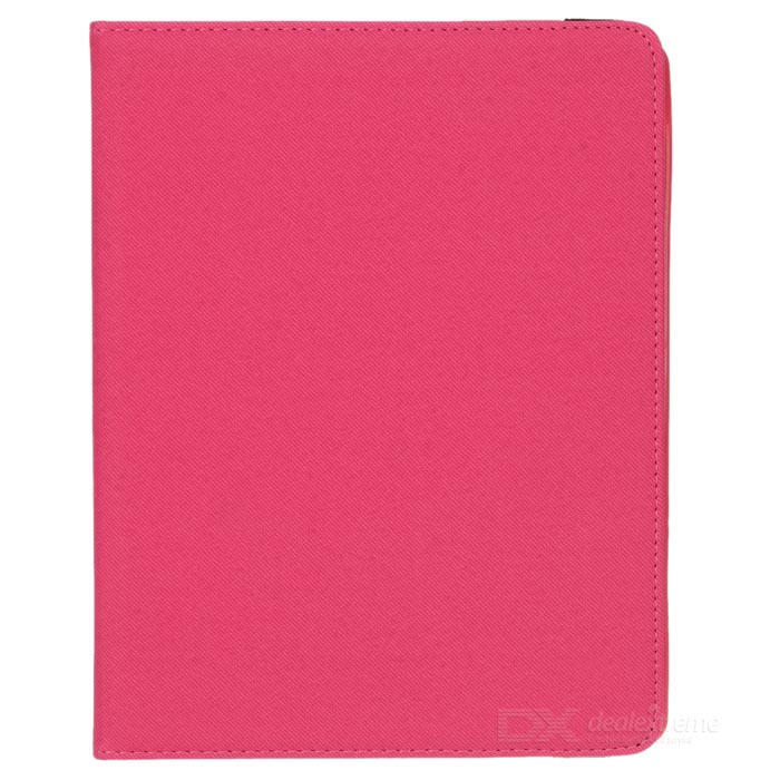 Grid Pattern Protective Case w/ Stand for IPAD 2 / 3 / 4 - Deep Pink