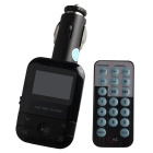 "1.5"" LCD Car MP3 Player FM Transmitter w/ IR Remote Controller, 3.5mm Audio, SD, USB - Black"