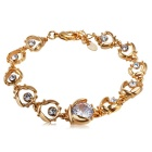 Coccinella Septempunctata Style Crystal Bracelet for Women - Gold