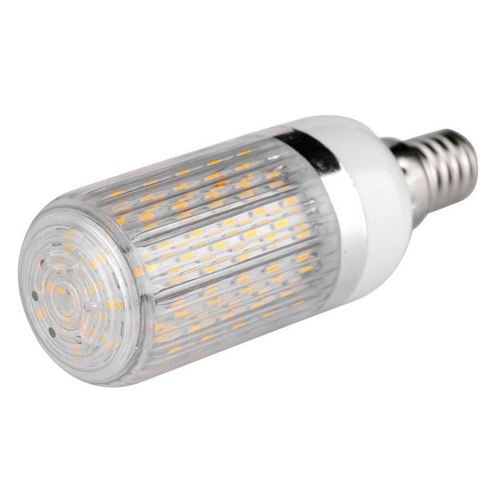 E14 12W Highlight 120-LED Corn Light Warm White 3000K w/ Striped Cover