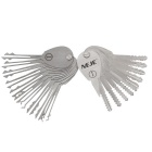 NEJE Foldable Car Lock Opener / Double Sided Lock Pick Set / Locksmith Tools - Silver (20PCS)