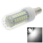 HONSCO E14 5W LED Clear Cover Corn Light Bulb Cool White 400lm 6500K 56-5730 SMD (AC 220V)