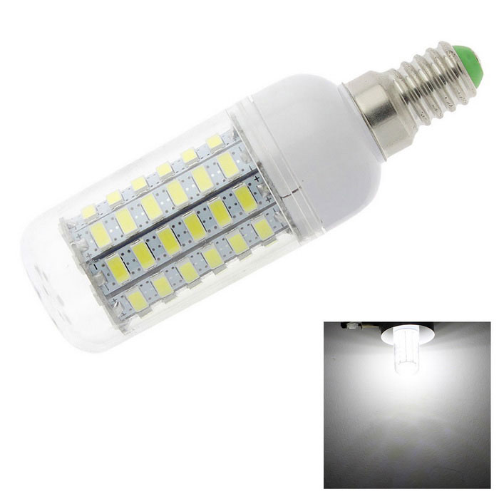 HONSCO E14 6W LED Clear Cover Corn Light Bulb Cool White 450lm 69-SMD