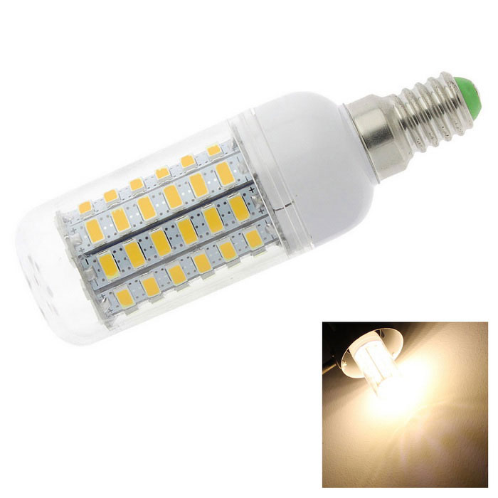 HONSCO E14 6W LED Clear Cover Corn Light Bulb Warm White 3000K 69-SMD