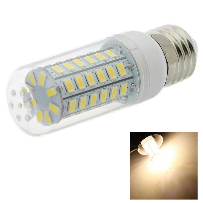 HONSCO E27 5W LED Clear Cover Corn Light Bulb Warm White 400lm 56-SMD