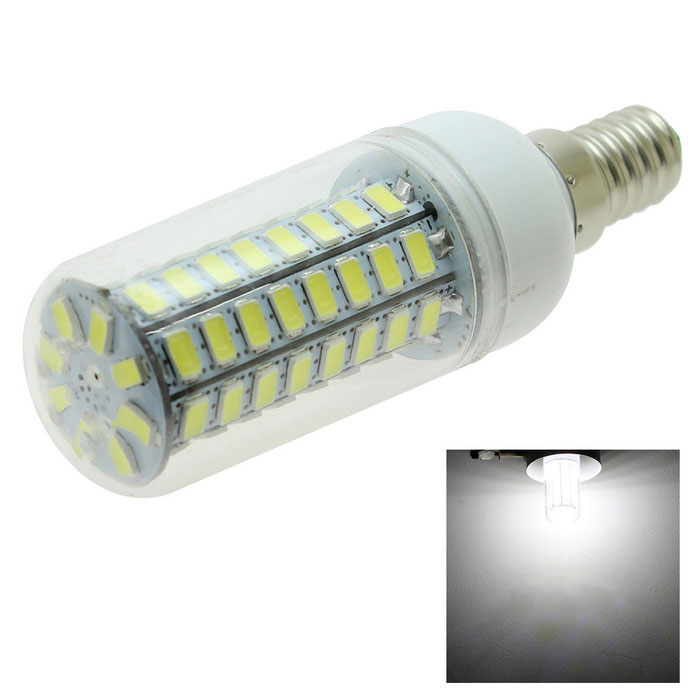 HONSCO E14 6.2W LED Corn Bulb Lamp Cool White 470lm 72-SMD 5730 (220V)