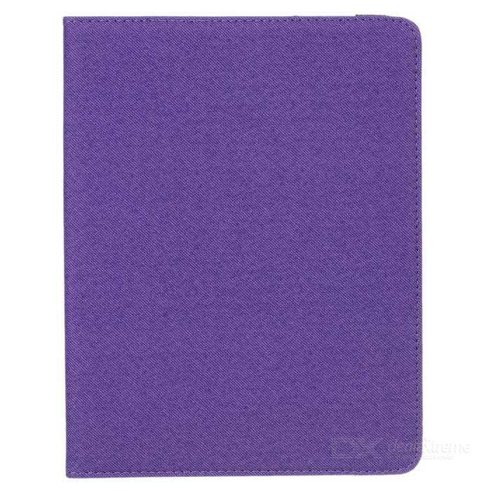 Grid Pattern Protective Case w/ Stand for IPAD 2 / 3 / 4 - Purple