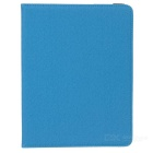Grid Pattern Protective TPU + PU Back Case w/ Stand / Card Slots for IPAD 2 / 3 / 4 - Sky Blue