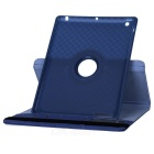 Grid Pattern Protective Case w / Stativ för IPAD 2/3/4 - Deep Blue