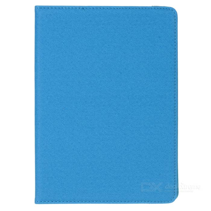 360' Rotary Grid Pattern PU Smart Case for IPAD AIR 2 - Sky Blue