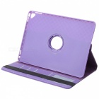 360' Rotary Grid Pattern PU Smart Case for IPAD AIR 2 - Purple