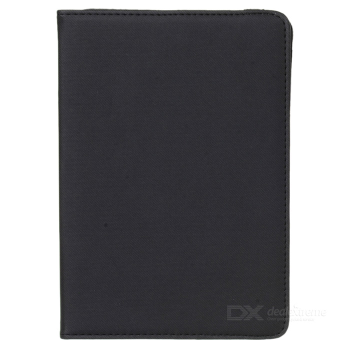 360 'rotating grid pattern PU + TPU para IPAD MINI - negro
