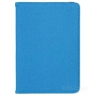 360 Degrees Rotating Grid Pattern PU Leather + TPU Case w/ Stand for IPAD MINI - Sky Blue