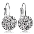 Spherical Crystal Earrings for Women - Silver